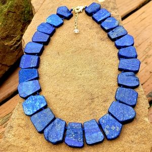 NWT LAPIS LALUZI NECKLACE